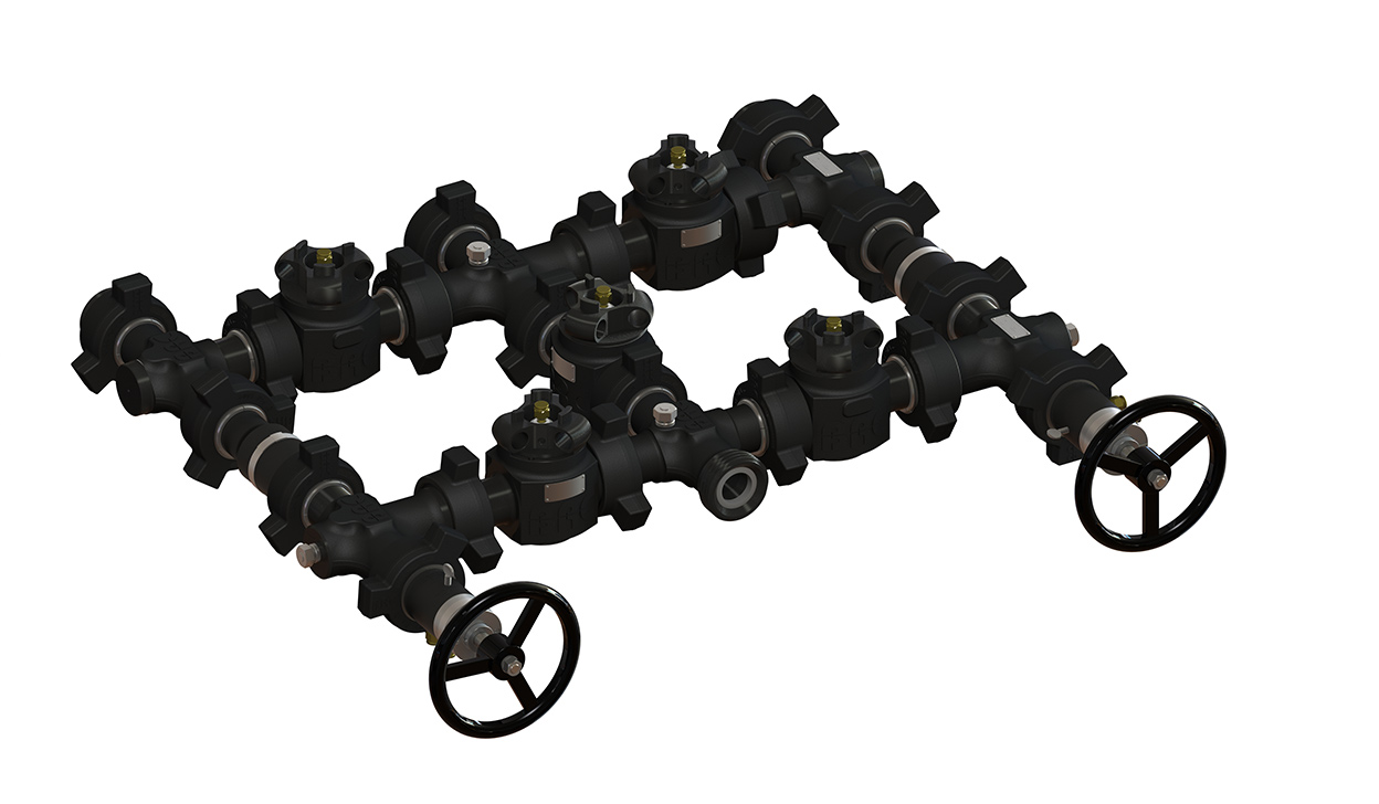 Black Armor Flow Control Manifolds